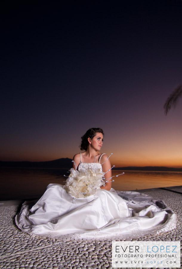 Sesion fotografica en locacion con Lorenza, una bellisima novia ...
