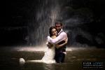 fotografo sesion locacion trash the dress guadalajara jalisco mexico cascada rio agua vestido novia