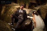 Fotos creativas de bodas en monterrey rio cascada trash the dress
