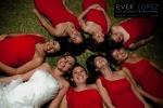 fotos damas de honor vestidos rojos novia boda guadalajara jalisco mexico