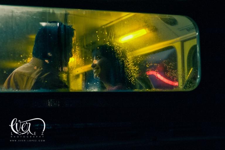 mexican destination wedding photographer ever lopez mexico, london bus engagement session pictures