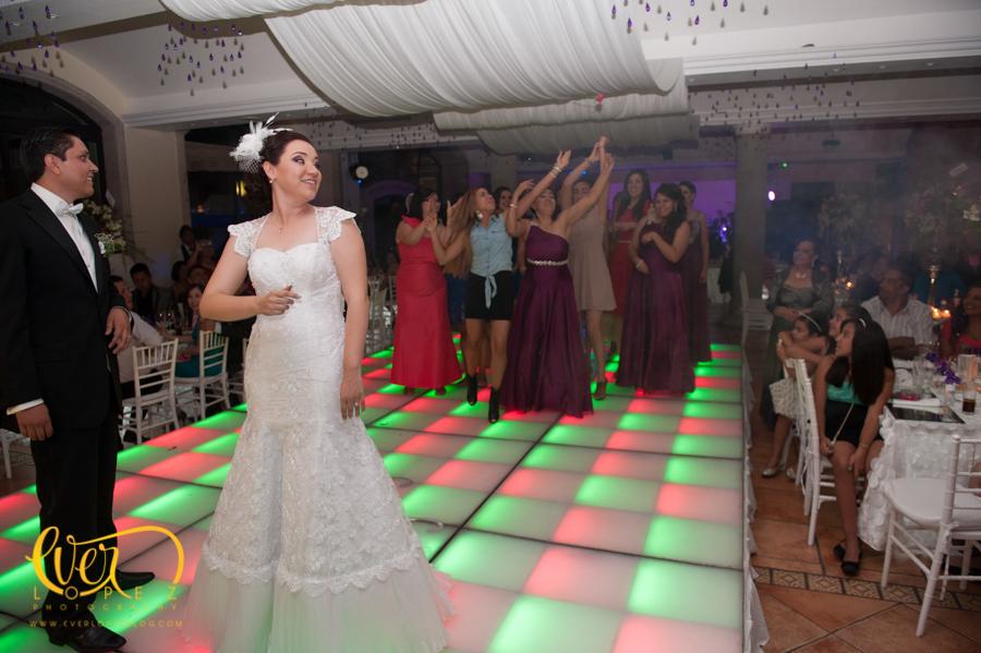 novia pista iluminacion damas ramo vestido de novia pista de leds
