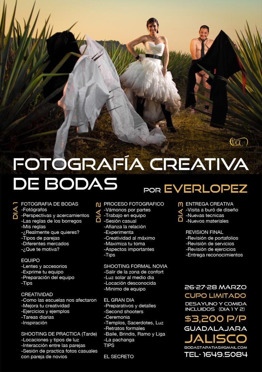 workshop fotografos de bodas taller fotografia creativa Guadalajara Jalisco Mexico fotografo Ever Lopez