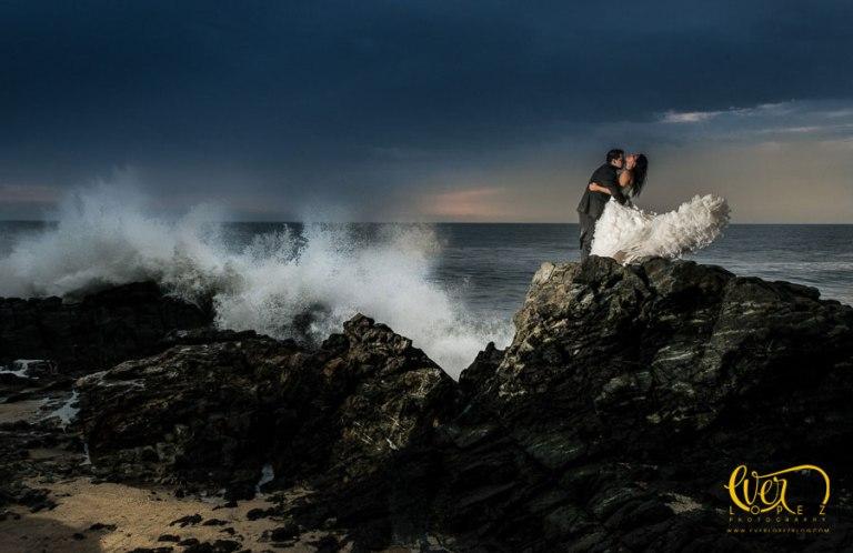 sesion de fotos de boda guadalajara, trash the dress punta monterrey