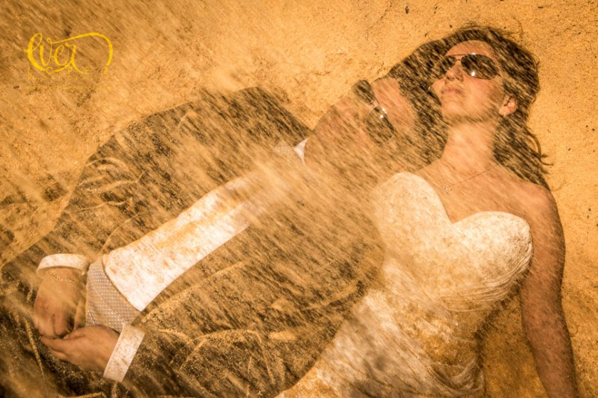 fotos trash the dress ever lopez despues de boda